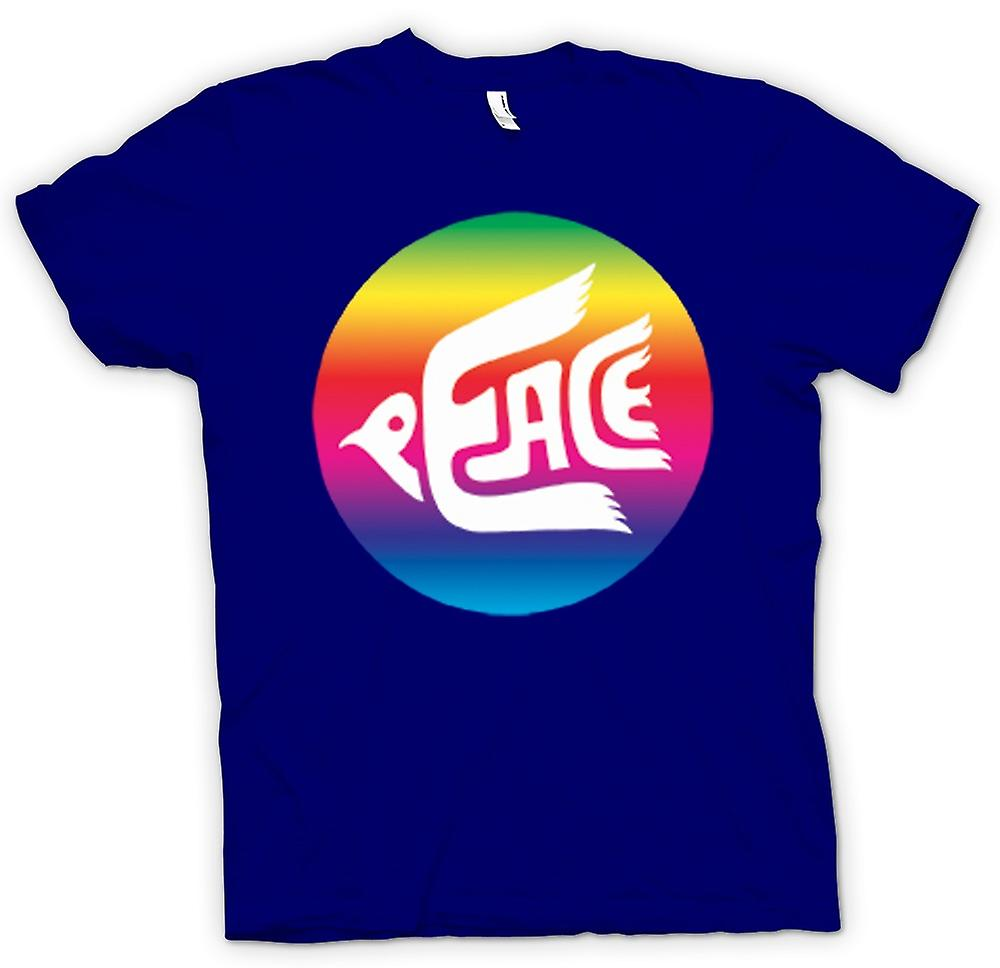 Herr T-shirt-fred Rainbow Dove logotyp