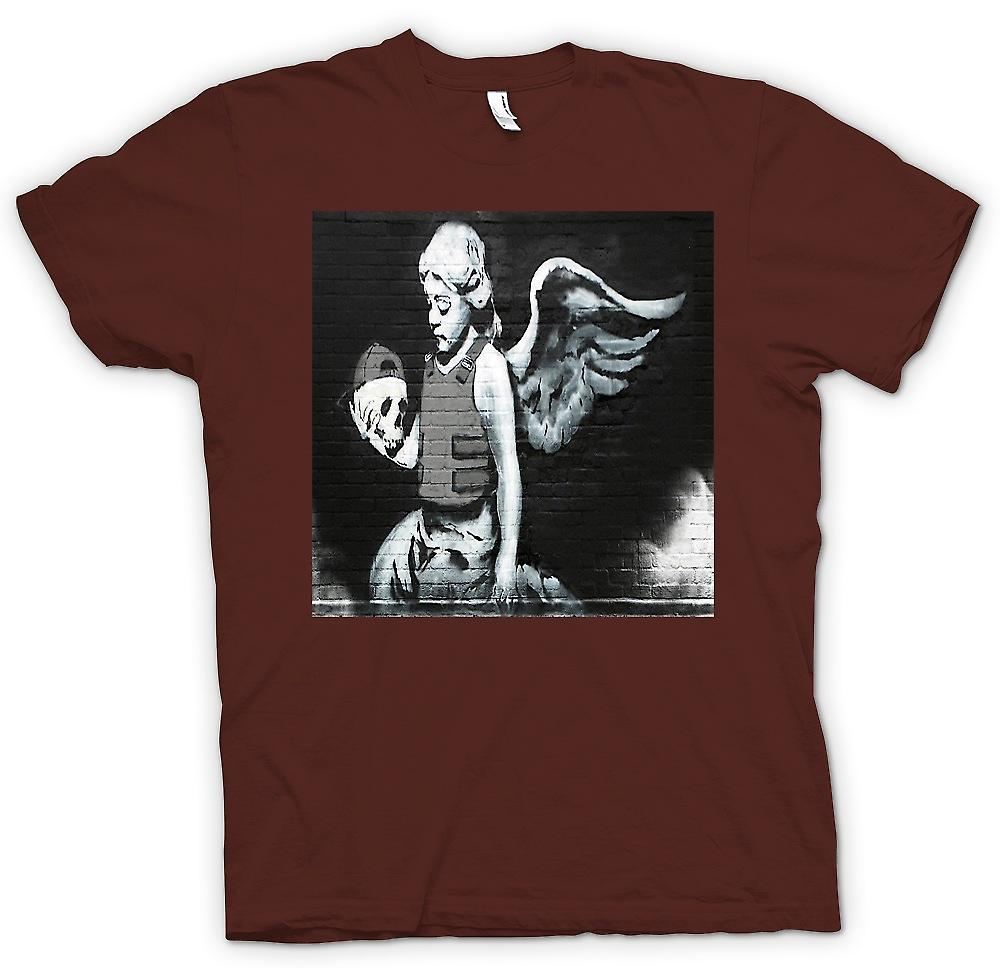 Mens T-shirt - Banksy Angel - Wandbild