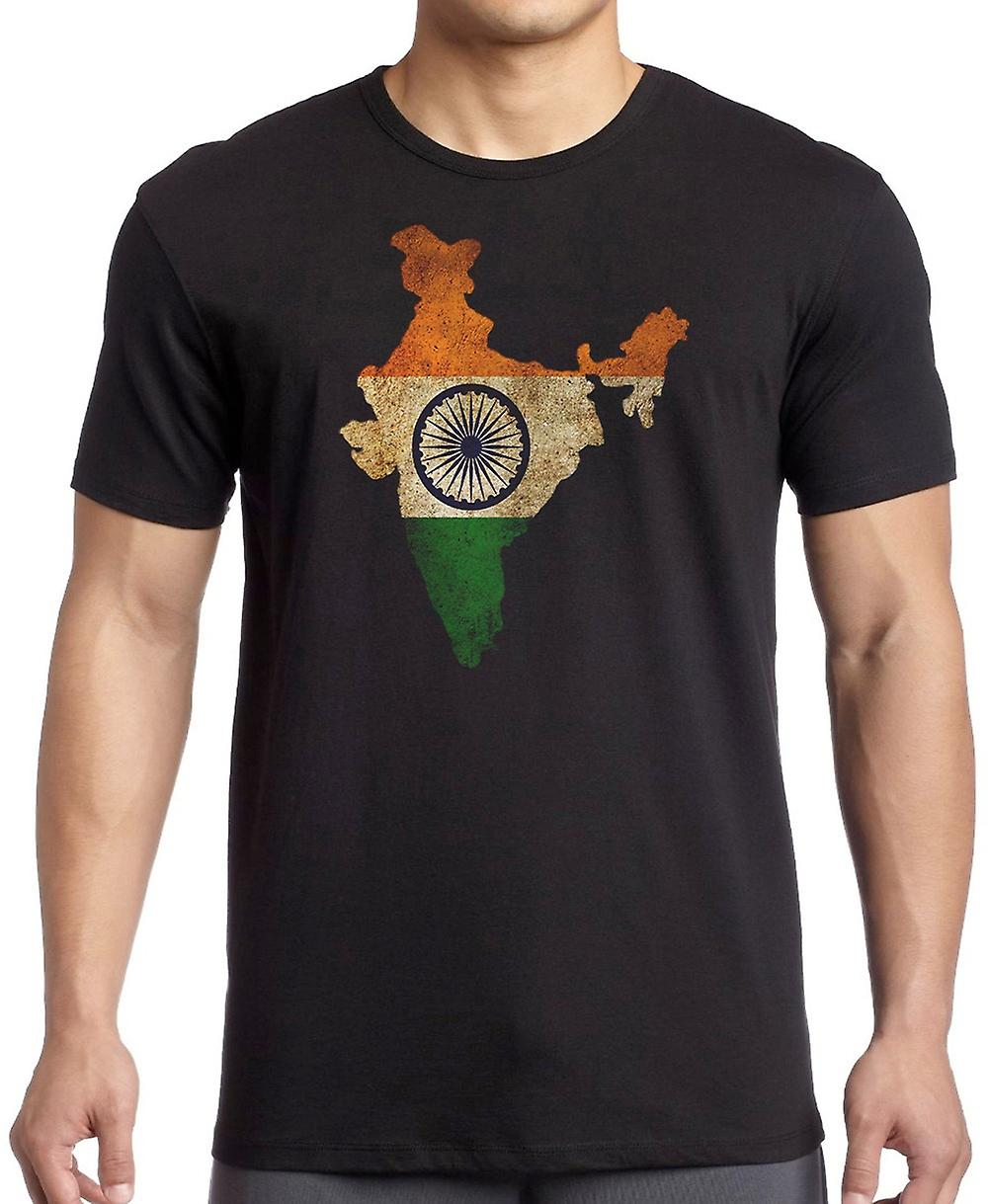 India Indian Flag Map Kids T Shirt