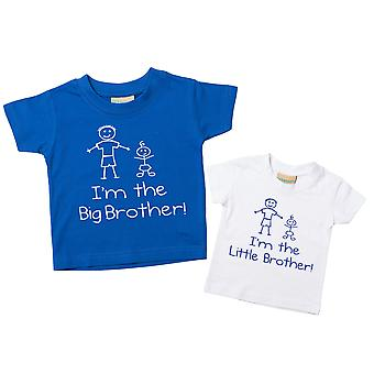 I'm The Big Brother I'm The Little Brother Tshirt Set