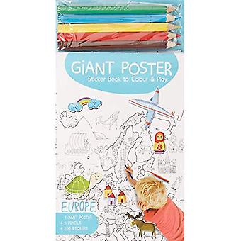 Giant Poster Colouring Book: Europe