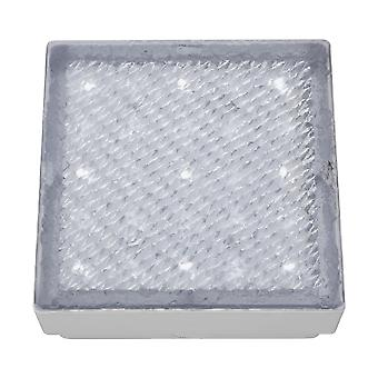 LED Indoor And Outdoor Small Square White Walkover Light - Searchlight 9914WH