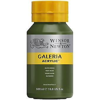 Winsor & Newton Galería 500ml - verde oliva