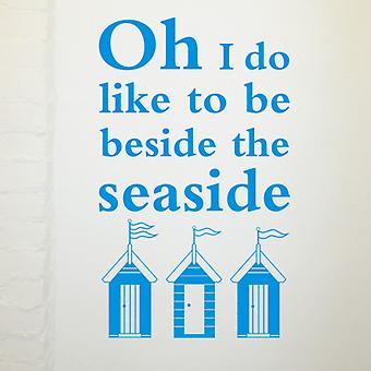 Beside the seaside quote wall sticker
