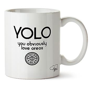 Hippowarehouse Yolo obviamente ama Oreos imprimido caneca cerâmica Cup 10oz