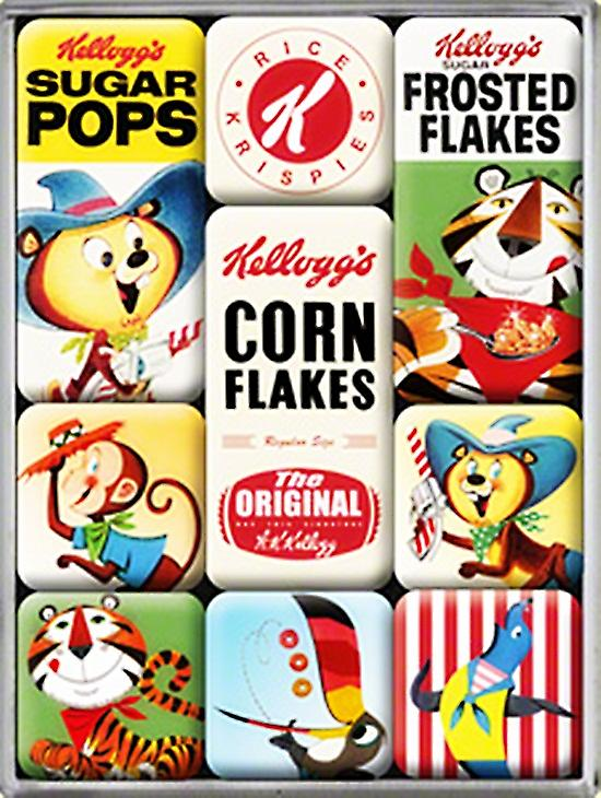 Kelloggs Characters set of 9 mini fridge magnets (na)
