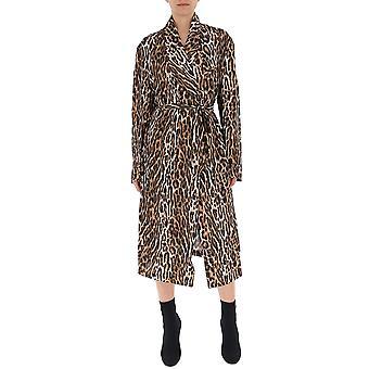 R13 Leopard Viscose Dress