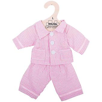 Bigjigs Toys, die rosa Stiped Pyjamas (38 cm) Outfit Kleidung Up Dress