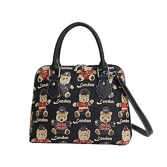 London bear top-handle shoulder bag by signare tapestry / conv-lnbe