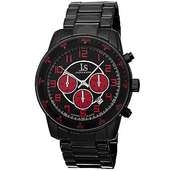 Joshua & Sons JS67RD Chronograph Date GMT Color Accented