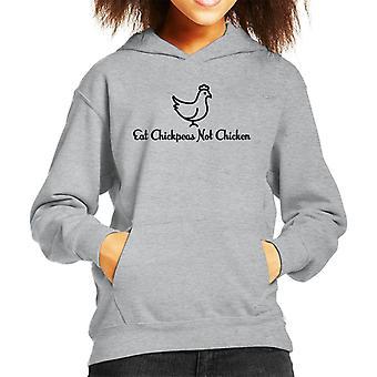Eat Chickpeas Not Chickens Kid's Hooded Sweatshirt