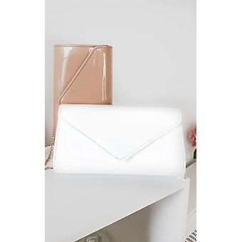 IKRUSH Womens Heidi Patent Envelope Clutch Bag