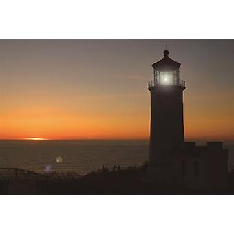 Lighthouse Sunset LED Canvas,