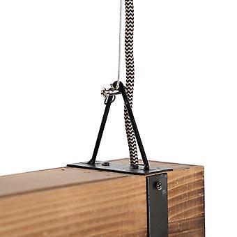 QAZQA Industrial hanging lamp wood with steel - Reena