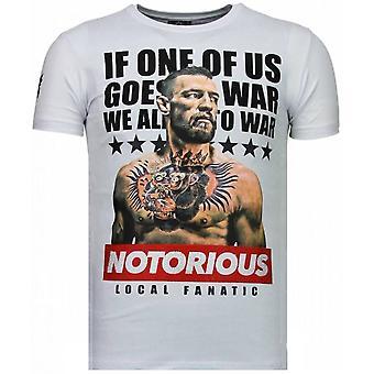 Conor McGregor-Rhinestone T-shirt-White