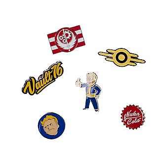 Fallout 76 Badge Pack Pins Vault Boy Nuka Cola nieuwe Official PS4 Xbox 6 Pack