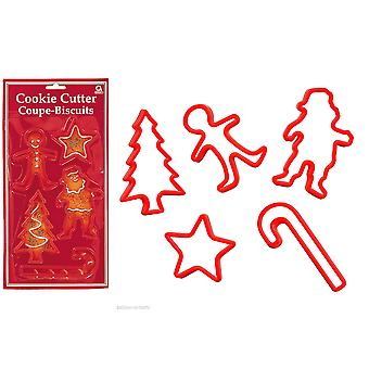 SALE - 5 Traditional Christmas Cookie Cutter Shapes For Kids