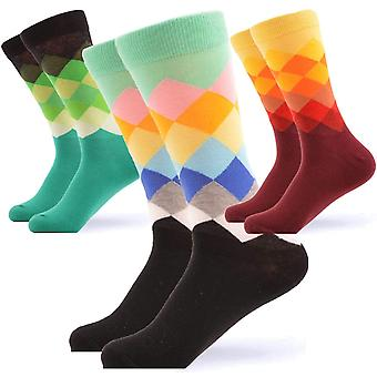 Männer's helle Kreuz Muster Geschenk 3 Paar Socken