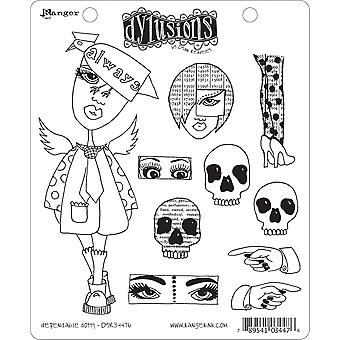 Dyan Reaveley's Dylusions Cling Stamp Collection Dependable Dotty Dyr 34476