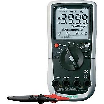 Handheld multimeter digital VOLTCRAFT VC270 Calibrated to: ISO standards CAT III 600 V Display (counts): 4000