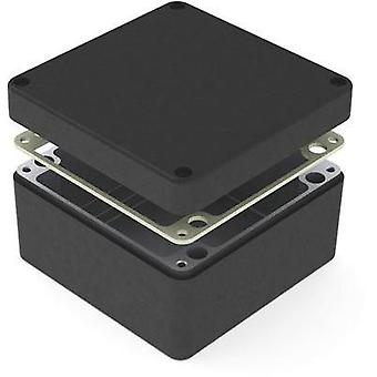 Universal enclosure 160 x 160 x 90 Aluminium Black Deltron Enclosures 487-161609B 1 pc(s)