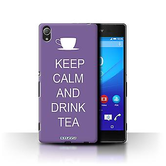 STUFF4 Case/Cover for Sony Xperia Z3+/Plus/Drink Tea/Purple/Keep Calm