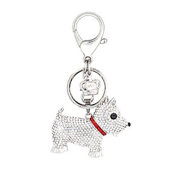 Butler & Wilson Crystal Scottie Dog Keyring