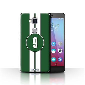 STUFF4 Case/Cover for Huawei Honor 5X/GR5/Jaguar/Green/Racing Car Stripes