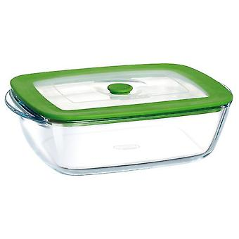 Pyrex Rectangular container with lid 23X15X7 Plus 4in1