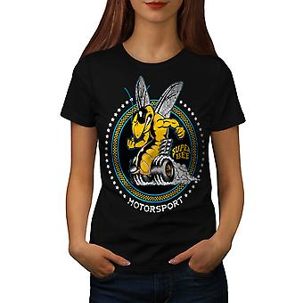 Wellcoda | Super Bee auto Sport Womens zwart T-shirt
