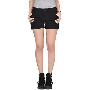 Stretch-Denim Hotpants Shorts ausgestattet