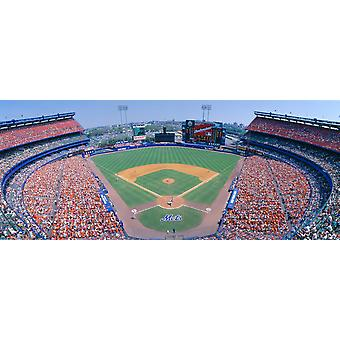Shea Stadium NY Mets V SF Giants New York Poster Print
