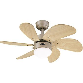 "Westinghouse ceiling fan Turbo Swirl Titanium 76 cm / 30"" with lighting"