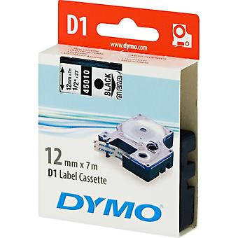 DYMO D1 tapes standard 12 mm, black on transparent, 7 m roll (4501