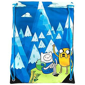 ADVENTURE TIME Jake and Finn Blue Mountain Drawstring Gym Bag Blue (CI3563ADV)