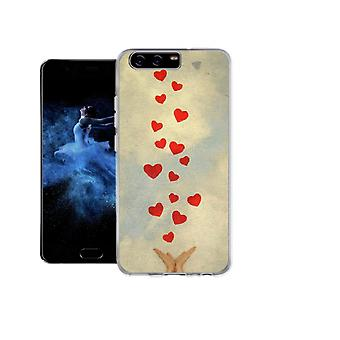 Capa Hand and hearts para Huawei P10 Plus