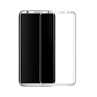 Samsung Galaxy S8 3D armoured glass foil display 9 H protective film covers case silver