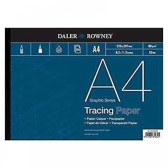 Daler Rowney Tracing gummiert Pad 90gsm A4