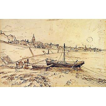 Vincent Van Gogh - Bank of the Rhone at Arles, 1888 Poster Print Giclee