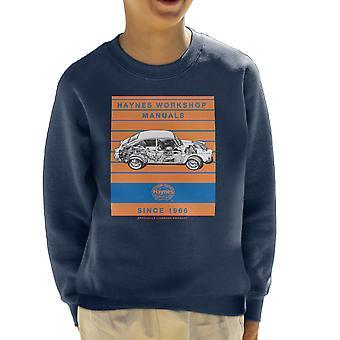 Camisola de Haynes Workshop Manual 0084 VW 1600 Fastback listra infantil