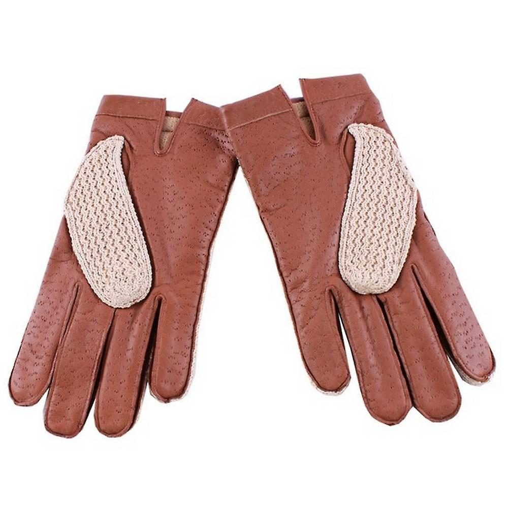 Dents Cotswold Driving Gloves - Cognac Red