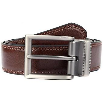 Dents Reversible Coated Leather Belt - Black/Brown