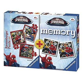 Ravensburger Multipack Memory With Ultimate Spiderman 3 Puzzles