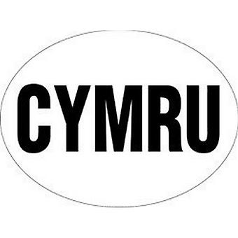 W4 Large Oval CYRMU/Wales Sticker