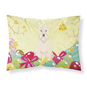 Easter Eggs Soft Coated Wheaten Terrier Fabric Standard Pillowcase