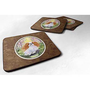 Carolines Treasures  SS8613FC Set of 4 English Toy Spaniel Foam Coasters
