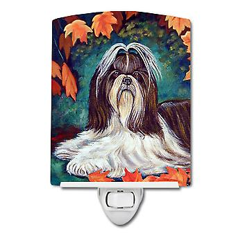 Carolines Treasures  7182CNL Autumn Leaves Shih Tzu Ceramic Night Light