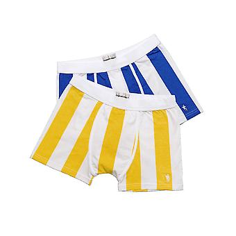 Original Eskimo 04.44.91142 Men's Play Lemon Yellow and Blue Cotton Fitted Boxers 2 Pack