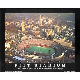 Pitt stadion finale - Pittsburgh P Poster Print by Mike Smith (28 x 22)