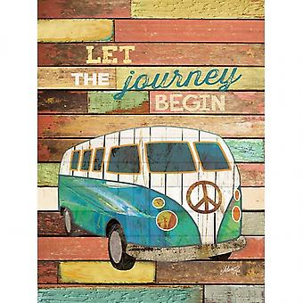 Let the Journey Begin Poster Print by Marla Rae (12 x 16)